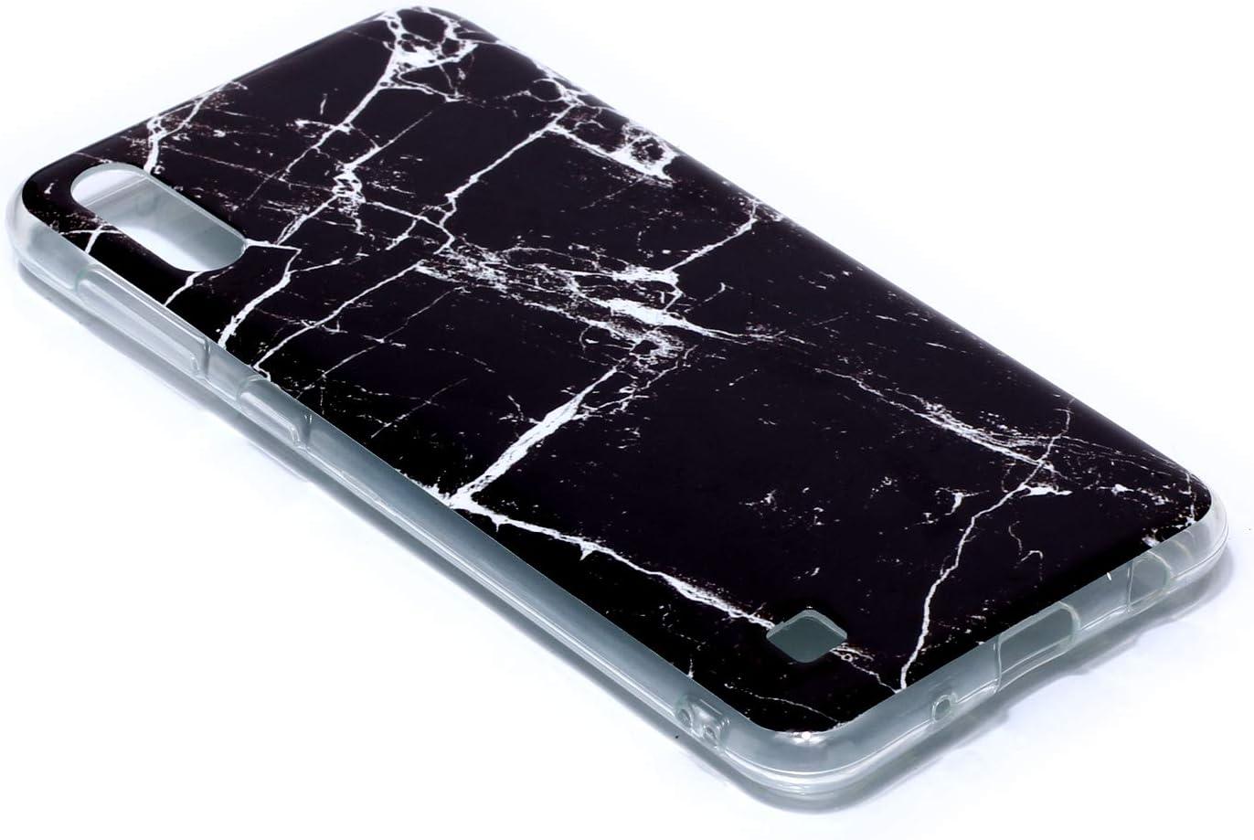 Blanc DiaryTown Compatible avec Coque Samsung Galaxy A10 Marbre Etui Galaxy A10 Housse Antichoc TPU Mince Motif Joli Fine Case pour Hommes Femmes M10 Silicone Souple