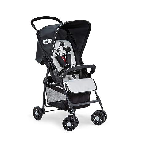 Hauck Sport Silla de paseo ultra ligera de 5,9kg, sistema de arnés de 5 puntos, respaldo reclinable, plegable, para bebes de 6 meses a 15kg, negro