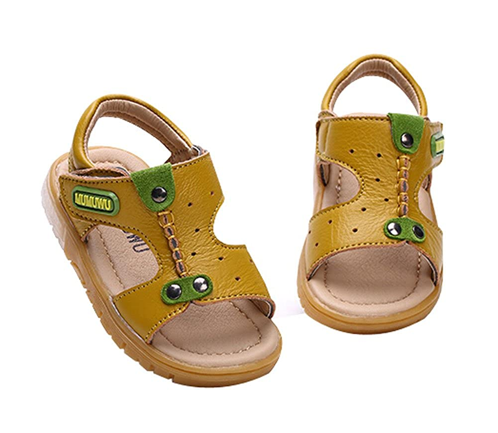 PANDA SUPERSTORE Cute Boys Beach Sandals Comfortable Summer Shoes Yellow Feet Length 12.5CM