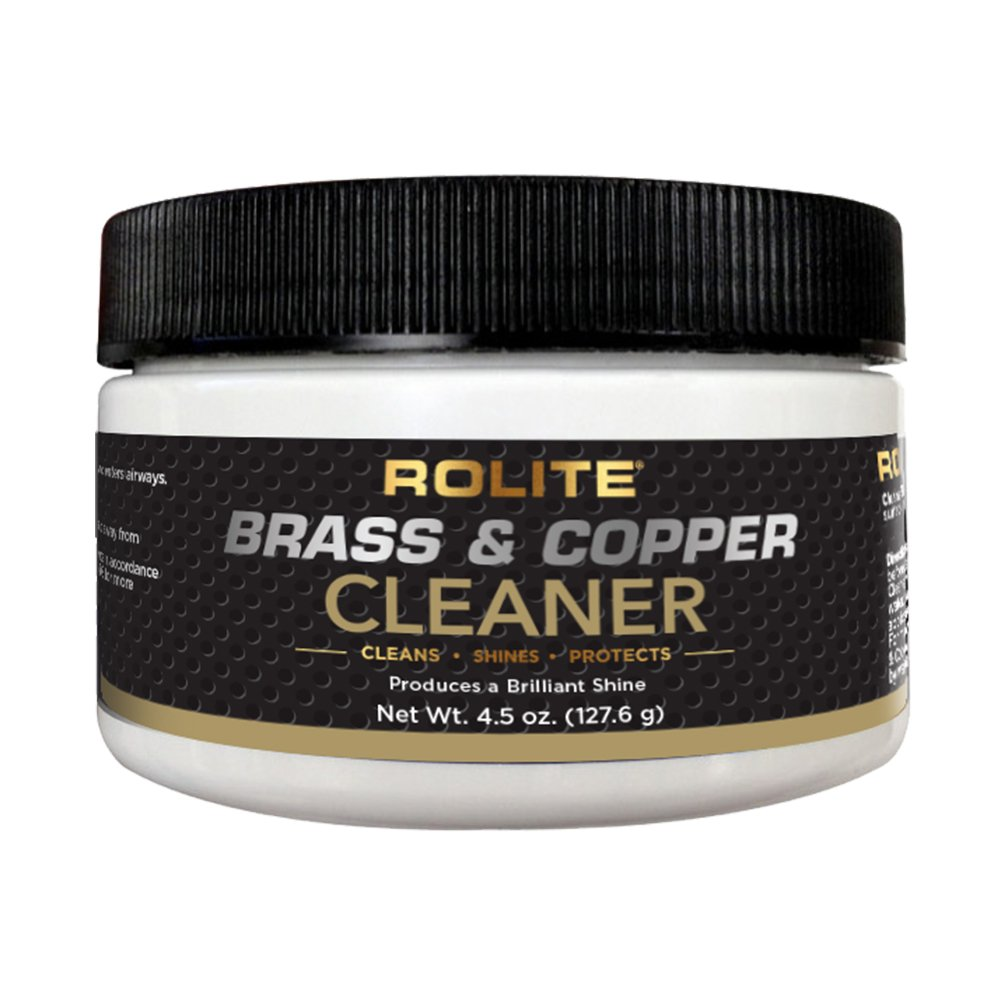 Rolite Brass & Copper Cleaner (4.5oz) Instant Cleaning & Tarnish Removal on Railings, Elevators, Fixtures, Hotels, Cruise Ships, Office Buildings