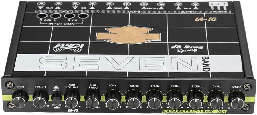 Majome 1PC EQ Car Speaker Equalizer Audio Tuner 7-Band Car Speaker Graphic Equalizer