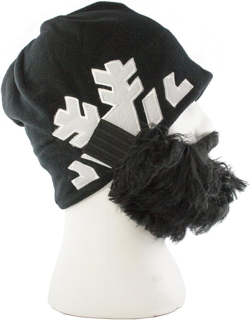 Bartmütze Black Spencer Snowflake Mütze Skifahren Snowboard Schwarz Schneeflocke