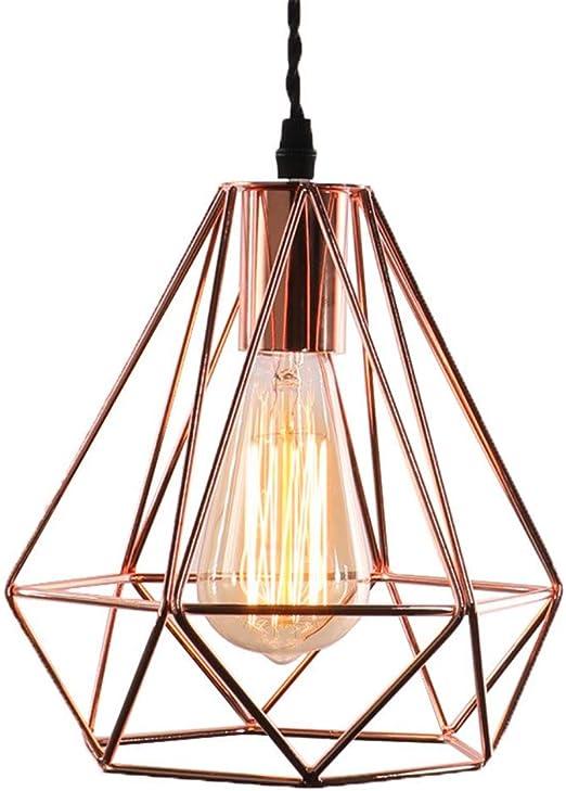 Modern Easy Fit 20cm LED Filament Geometric Ceiling Pendant Light Shade 3 Colors