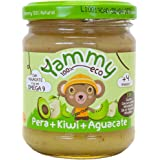 Yammy Potito 100% Ecológico de Frutas ( Pera, Kiwi, Aguacate) - 12 tarritos de 195 gr. - 100% natural / 100% ecológico