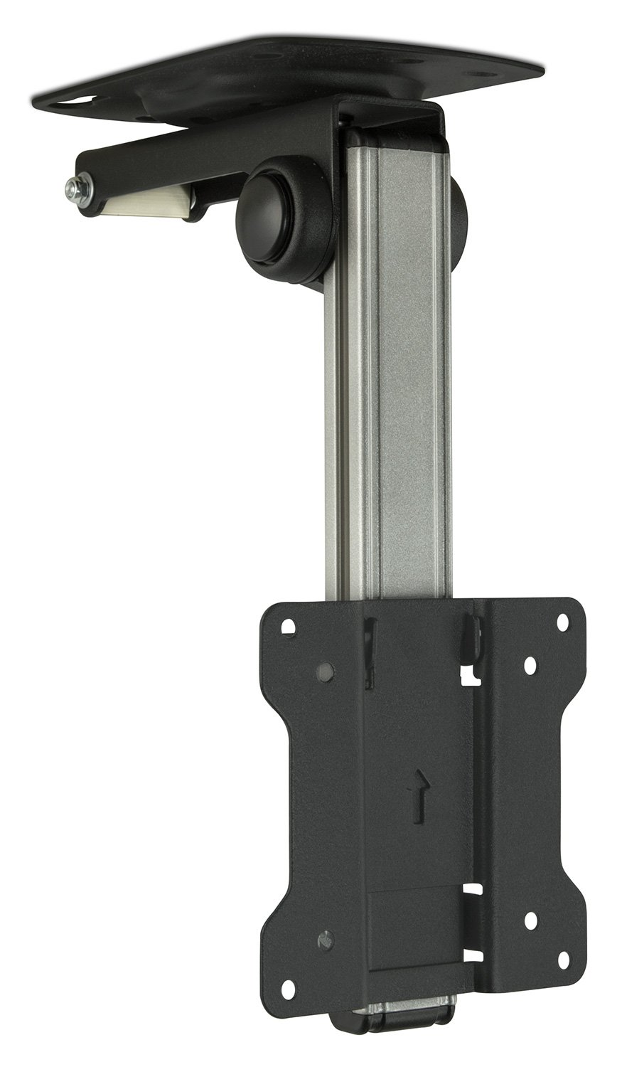 Mount-It! Under Cabinet TV Ceiling Mount - Fold, Retract, Tilt, Swivel, Fits 13-27 Inch LCD LED Monitors and Flat Screens up to VESA 100x100 and 44 Lbs, LCD-CM211 FBA_MI-CM211