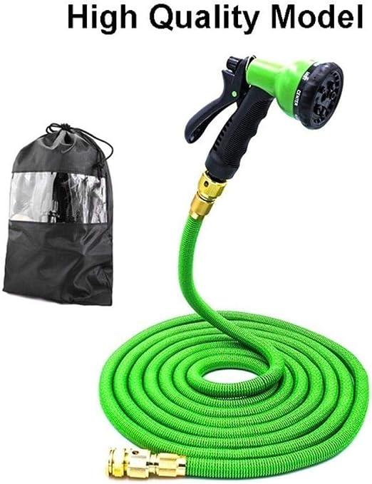 PENVEAT 25Ft-200Ft UE Flexible Extensible Manguera de Agua de jardín mangueras de plástico mágico Tubo con Pistola pulverizadora para riego, Lavado de Autos, Verde, 100 pies: Amazon.es: Jardín