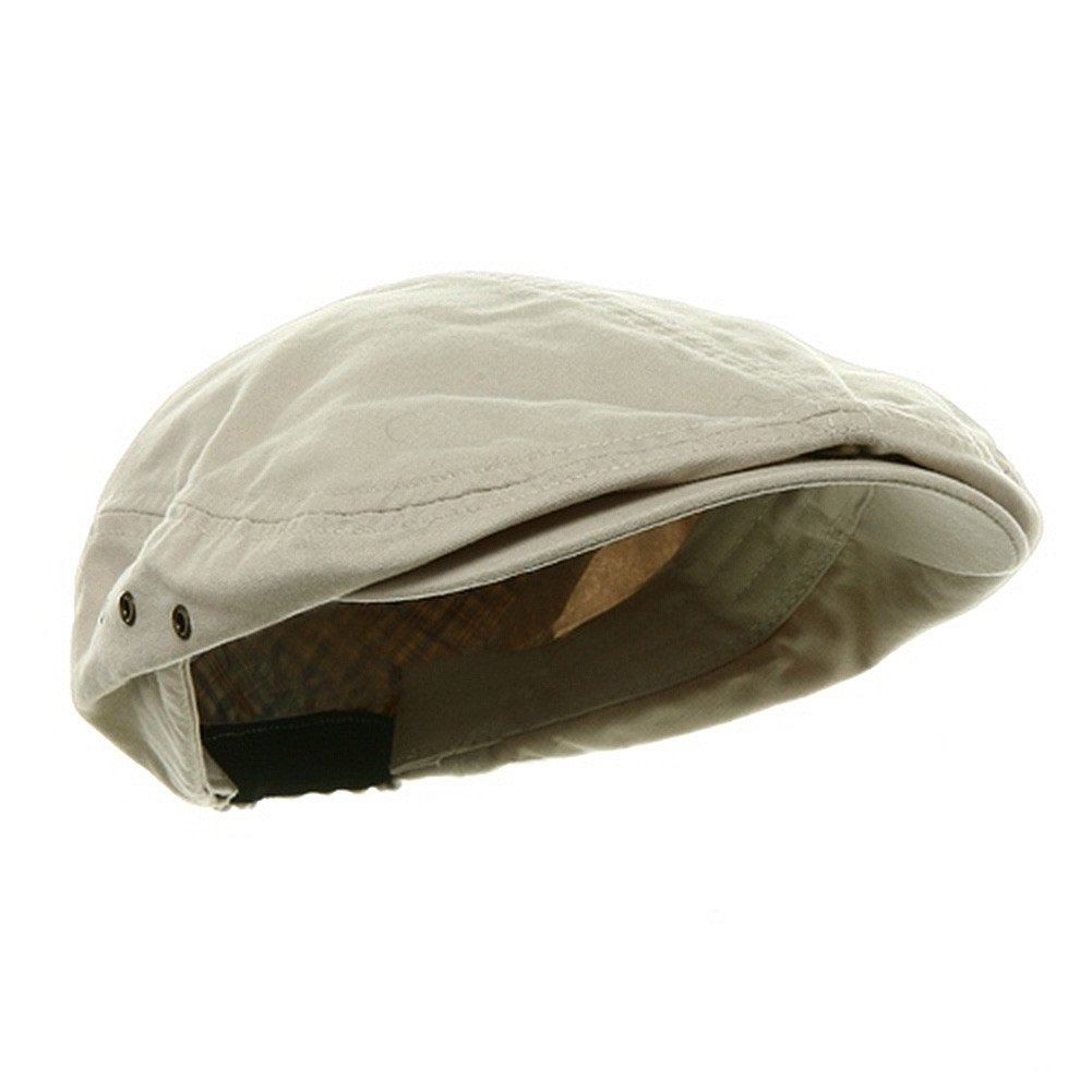 Mens Beige Stone Washed Canvas Ivy Ascot Cabbie Cap