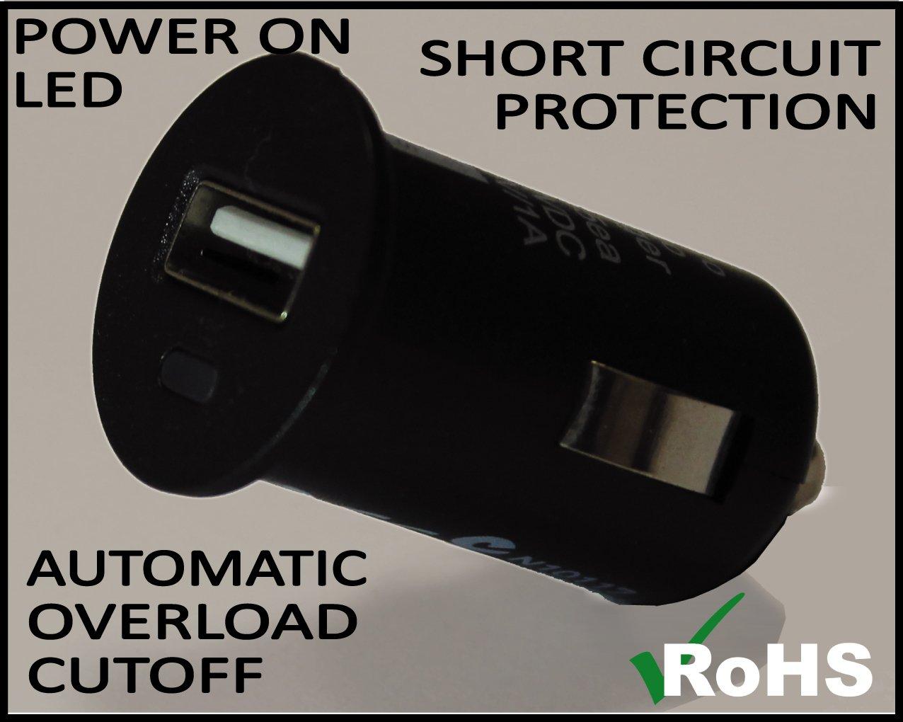 BC Battery Controller 710-P12USB Prise 12V Allume Cigare /Étanche avec Support Universel au Guidon pour Moto Chargeur//Adapteur USB Extractible