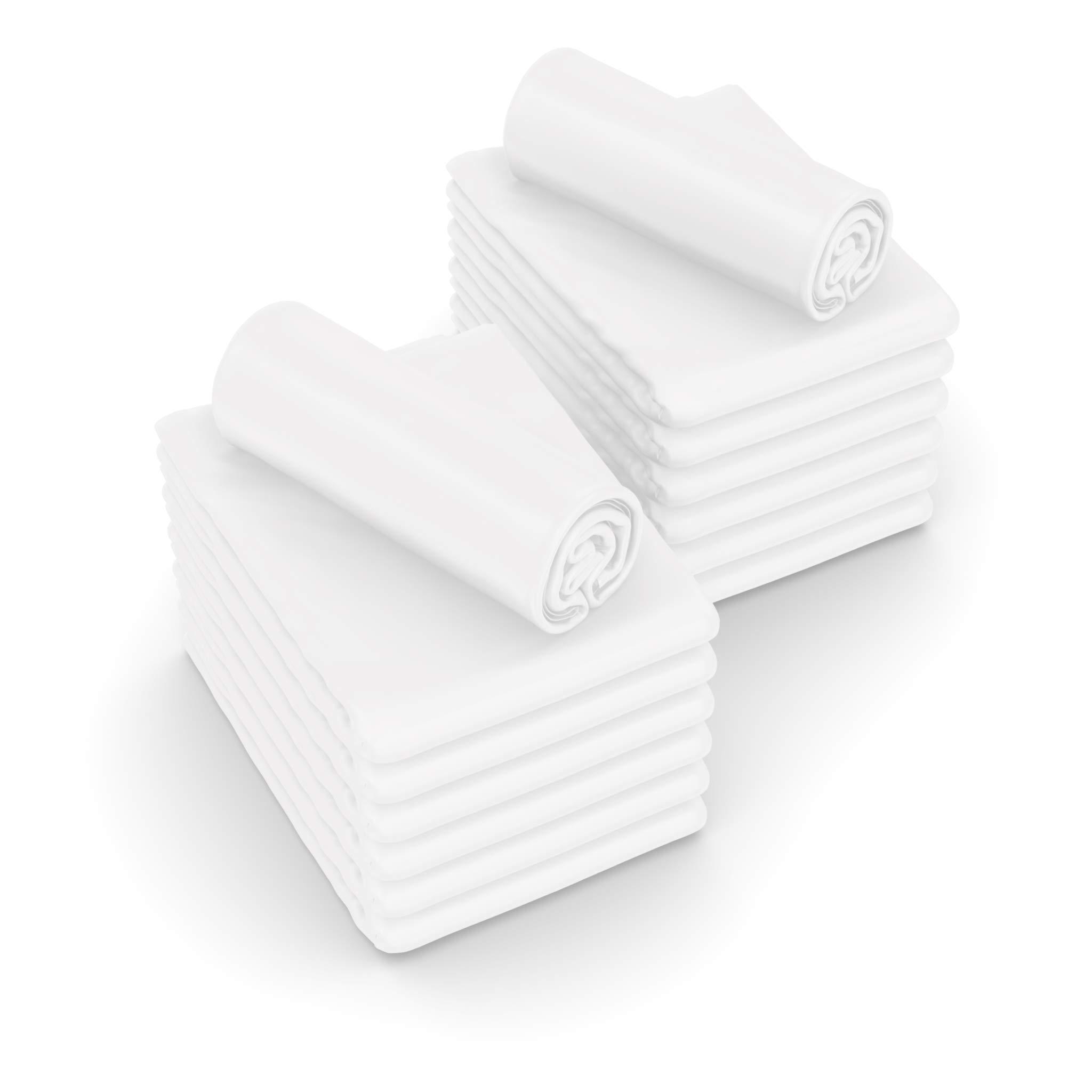 JMR Flat Draw Bed Sheets Muslin T130 Cotton Blend (66x104, White 4 Piece)