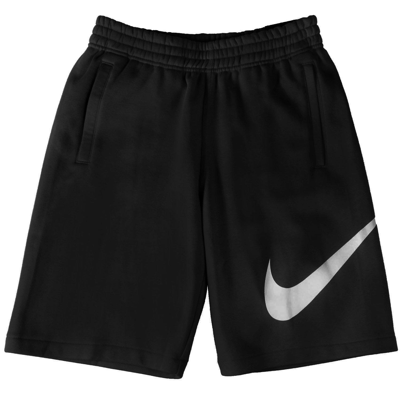 Nike 633523-010 Men Club Short-EXP Swoosh Black/White