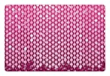 Diamonds Pet Mats for Food and Water by Lunarable, Vertical Crystal Seem Diamonds Figures with Vibrant Design and Vivid Colors, Rectangle Non-Slip Rubber Mat for Dogs and Cats, Pink and Purple