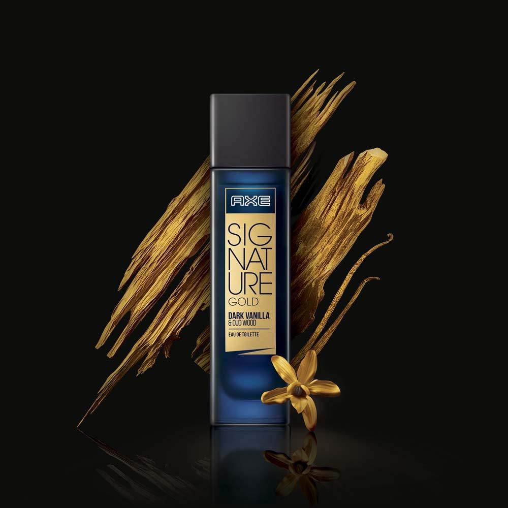 AXE Signature Gold Dark Vanilla and Oud Wood Perfume.
