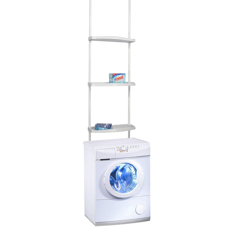 /275/cm Mojawo/® Lavatrici telescopico mensola da Bagno Scaffale Mensola da Bagno ueberbauregal Bianco H170/