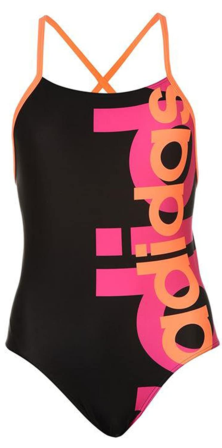 Ladies Racer Back Logo Swimsuit Swimming Costume
