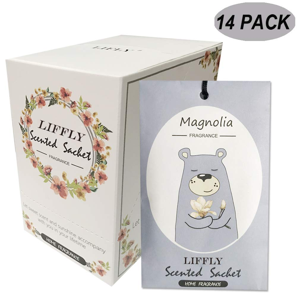 LIFFLY 14 Packs Magnolia Scented Sachets fit