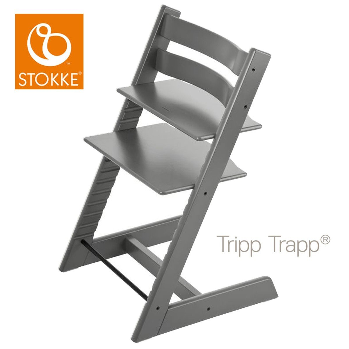 Stokke Tripp Trapp Chair Natural - High Chairs (Wood, 3-point, 36 ...