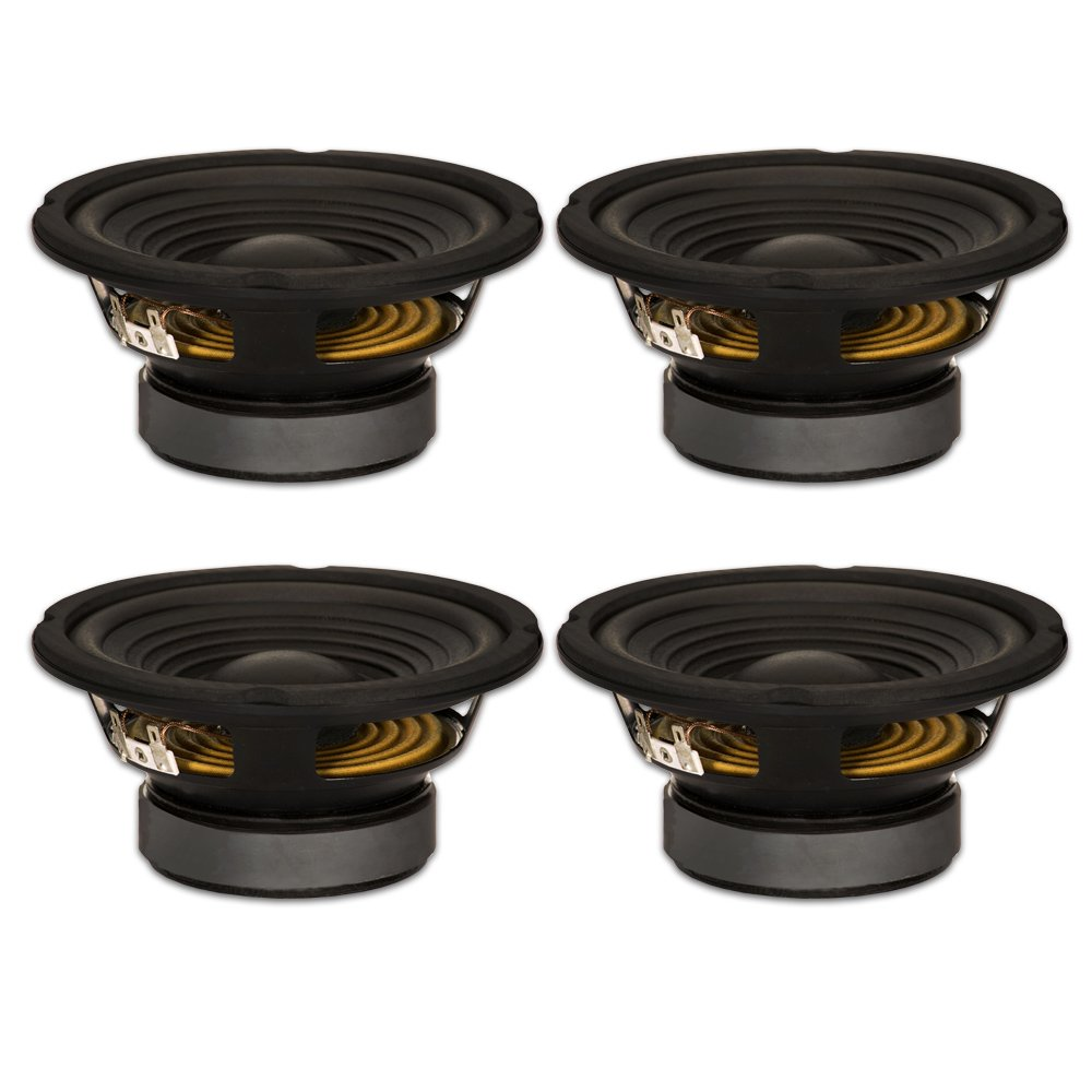 Goldwood Sound, Inc. Stage Subwoofer Black OEM 6.5'' Woofers 180 Watts each 8ohm Replacement Speakers GW-206/8-4 by Goldwood Sound, Inc.