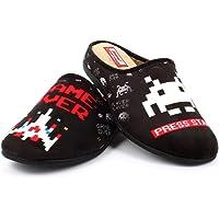 Zapatillas inspiradas en Space Invaders cómodas Andar por casa - Gamer Retro