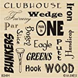 Everything Golf Background Rubber Stamp by DRS Designs Rubber Stamps