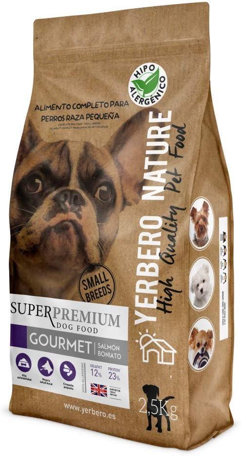 Comprar YERBERO Nature Gourmet salmón/boniato Comida Hipoalergénica para Perros de Razas Mini 2,5kg