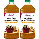 St.Botanica Apple Cider Vinegar with Mother Vinegar and Honey - 500 ml (Pack of 2)