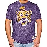 Elite Fan Shop LSU Tigers Retro Tshirt Purple - XX-Large