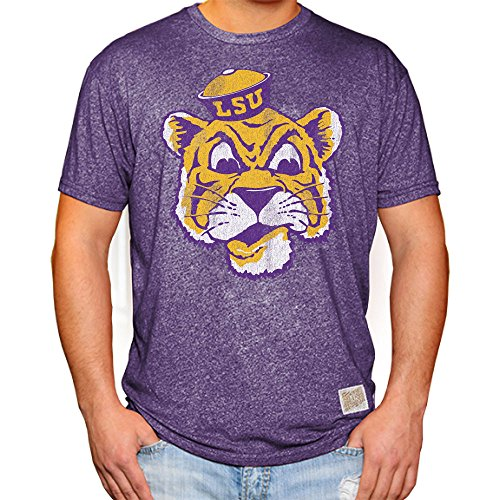 Elite Fan Shop LSU Tigers Retro Tshirt Purple - S
