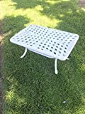 White Outdoor Cast Aluminum Coffee Table