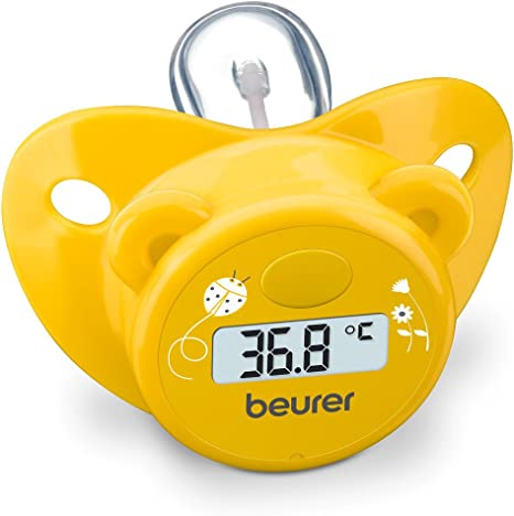 Beurer BY20 - Chupete-termómetro en forma de osito, color amarillo ...