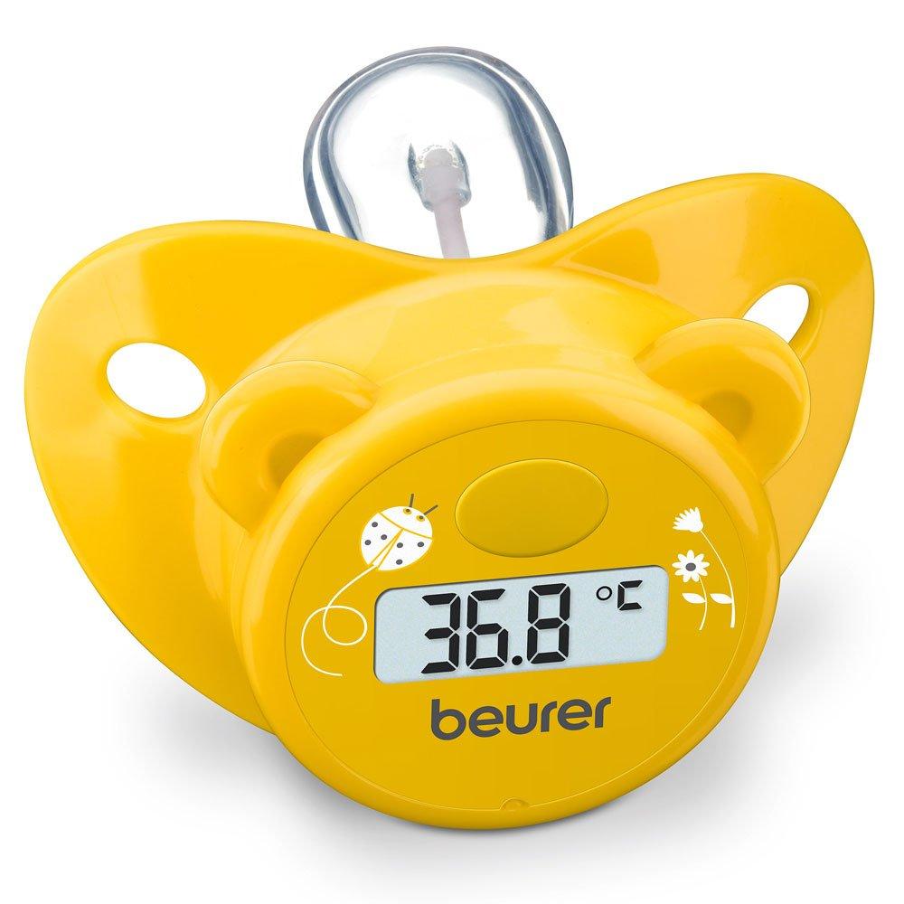 Beurer BY 20 - Chupete-termómetro en forma de osito, color amarillo: Amazon.es: Bebé