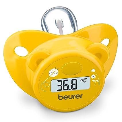 Beurer BY20 - Chupete-termómetro en forma de osito, color amarillo