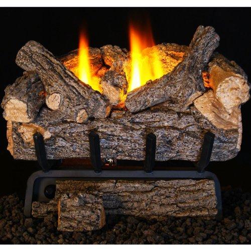 - Peterson Real Fyre 24-inch Valley Oak Log Set With Vent-free Natural Gas Ansi Certified 20,000 Btu G8 Burner - Manual Safety Pilot