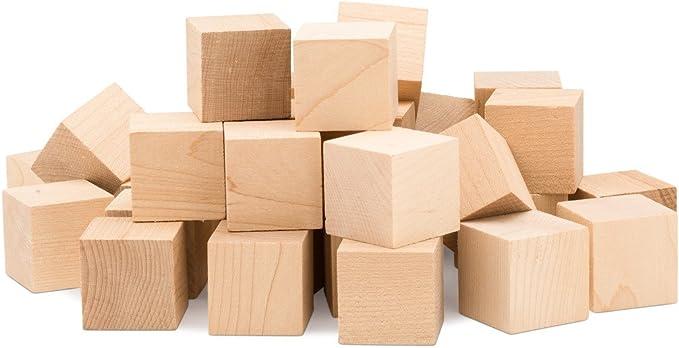 Wooden Cubes 8mm Navy Blue x 100