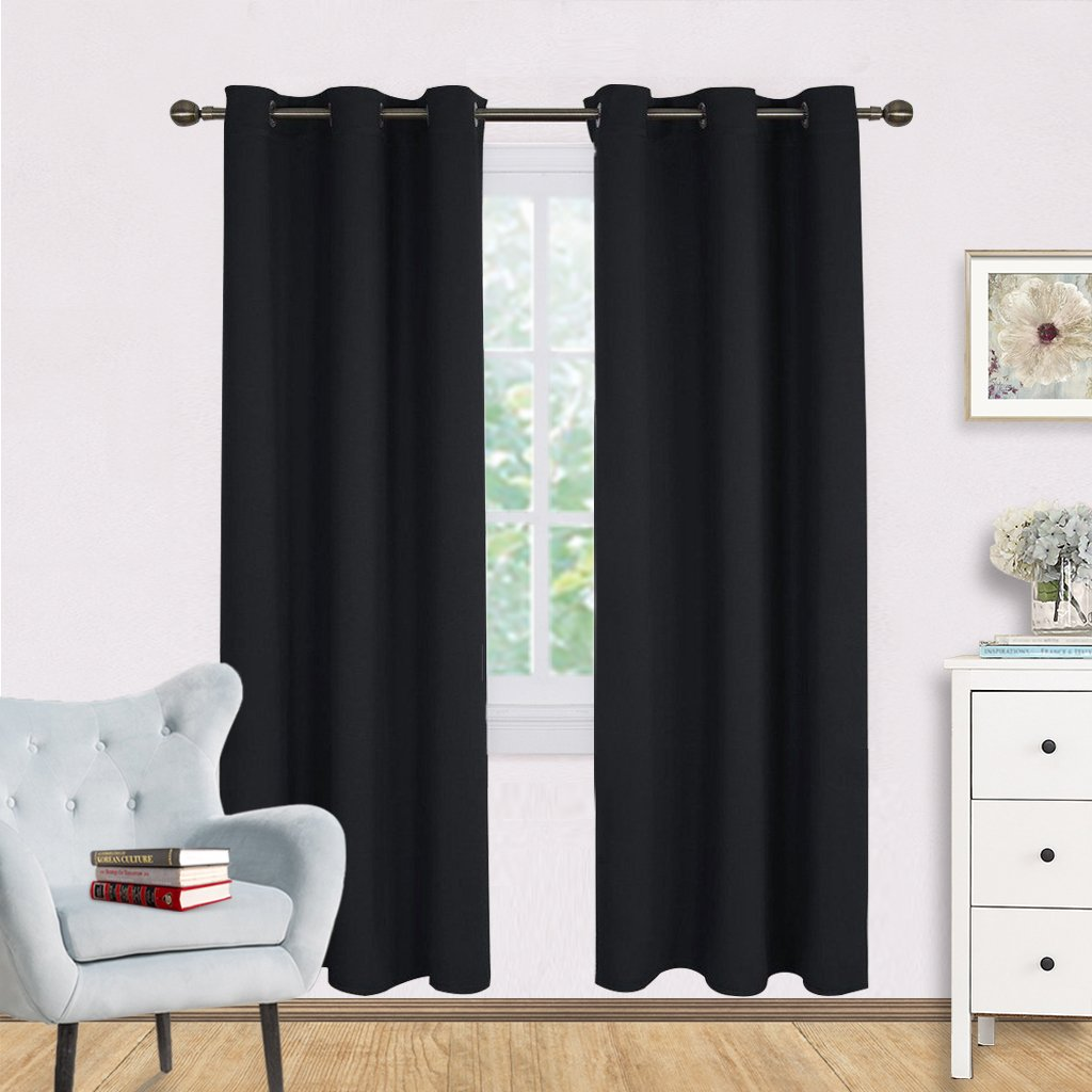 Blackout Curtain Panels - NICETOWN Autumn / Winter Thermal Insulated Solid Grommet Blackout Draperies / Drapes
