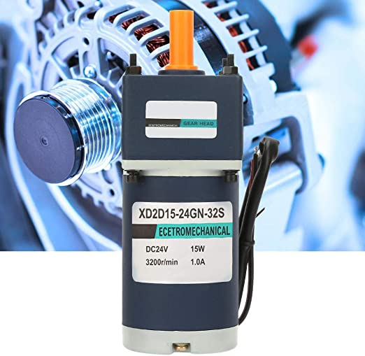 15W XD2D15-24GN-32S CW//CCW Permanent Magnet Reduction Gear Motor Adjustable Speed Gear Motor 36, 90RPM KONGZIR DC24V Reduction Motor