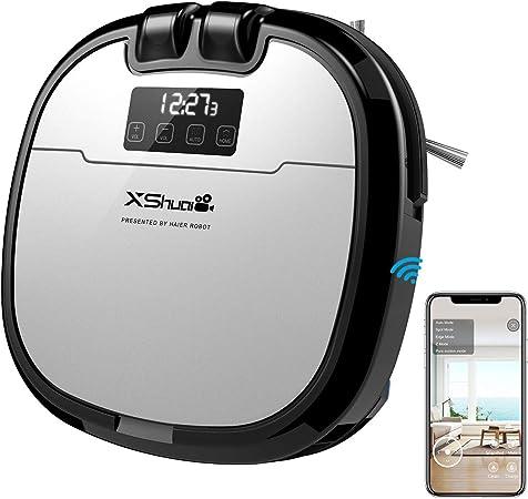 Holife Robot Aspirador con Depósito de Agua, Limpieza y Lavar automáticamente EL Suelo, Robot Aspirador limpiasuelos Apto para Suelos y alfombras: Amazon.es: Hogar