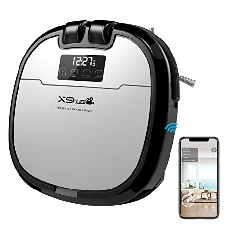 Holife Robot Aspirador con Depósito de Agua, Limpieza y Lavar automáticamente EL Suelo, Robot