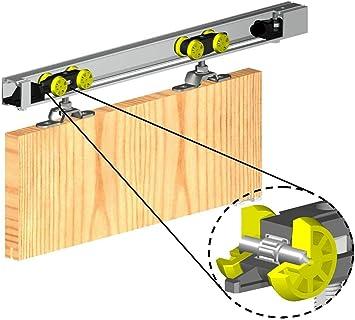 Sistema de puerta corredera pista Gear 1800 mm Herkules Top Hung interior puerta Kit 60 kg: Amazon.es: Bricolaje y herramientas