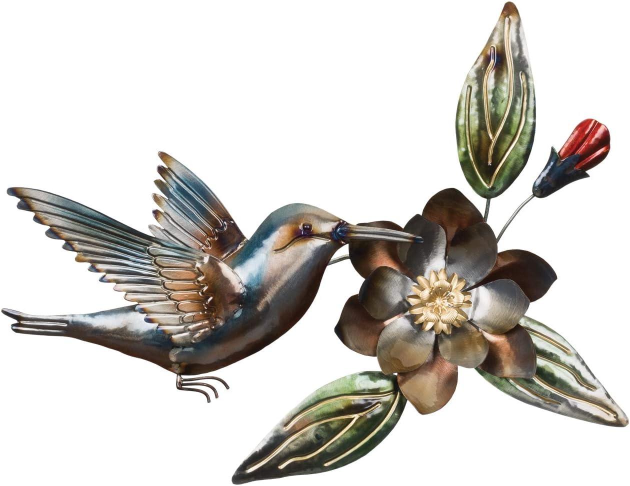 Regal Art & Gift 12656 Metallic Hummingbird Wall Decor Garden Décor, Bronze Gold