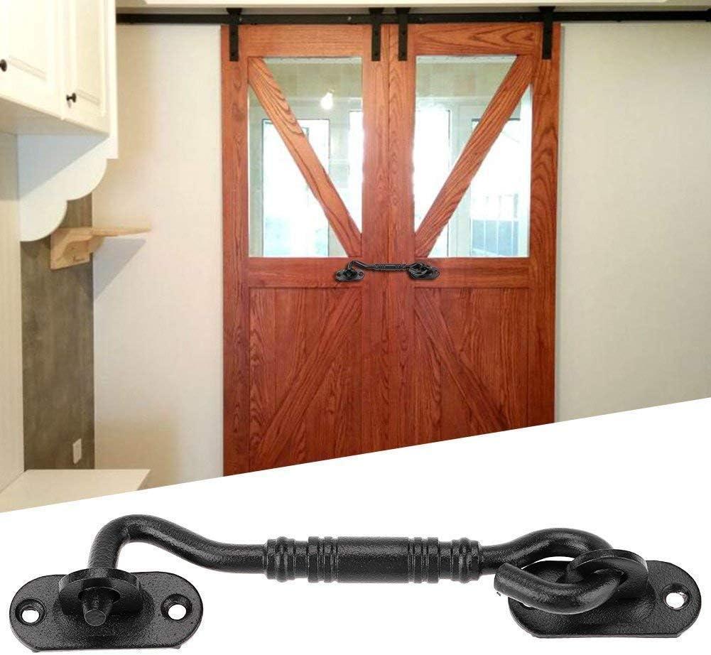 Barn Door Lock Stainless Steel Barn Door Accessory with Mounting Screws Durable Hardware Fittings Stainless Steel Latch Lock for Cabin Doors for Shed Doors