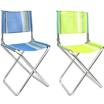 com-four® 2X Silla de Director Plegable Hecha de Aluminio liviano, en Colores Excelentes, Ideal para Acampar, Pescar, al Aire Libre, etc. (02 Piezas - ...