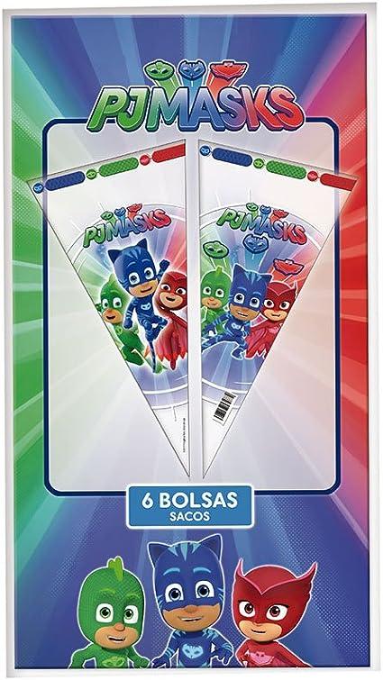 PJ Masks Bolsas cono para decoración de fiestas (Verbetena 016001304)