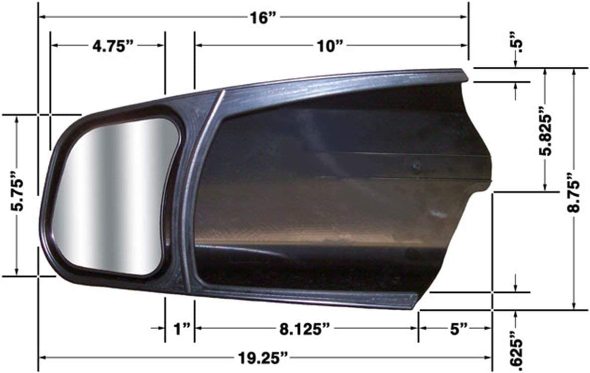 Pair of Convex Caravan Car Extension Towing Mirrors fits Toyota