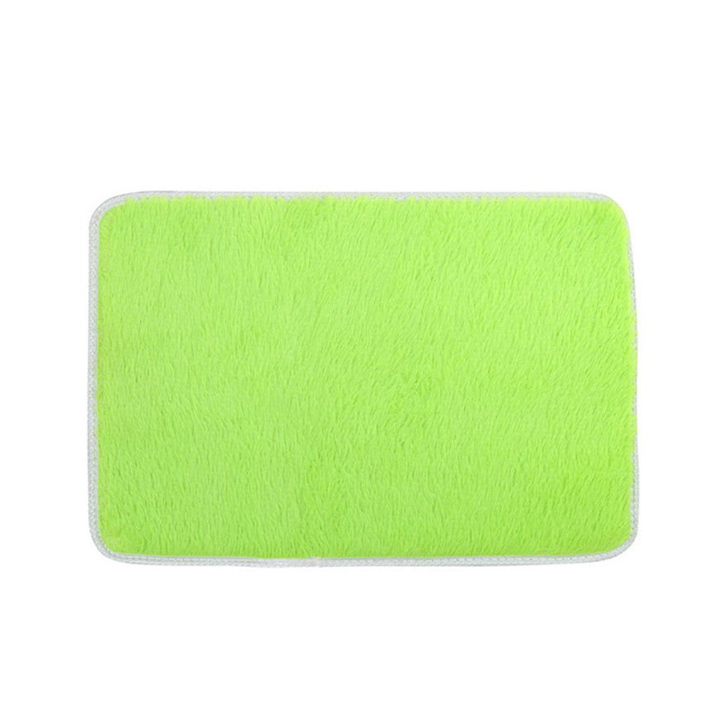 Soft Fluffy Rugs Anti-Skid Shaggy Area Rug Bedroom Carpet Floor Mat 4060Cm Dropshipping Green 400mm x 600mm