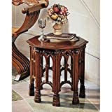 Design Toscano Gothic Revival Octagonal Side Table For Sale