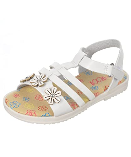Rya Girls Flower Girl Sandals White 3 Infant Amazon