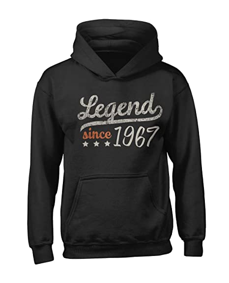 Legend Since 1967 Cumpleaños Hombres Capucha Hoodie Camisa ...