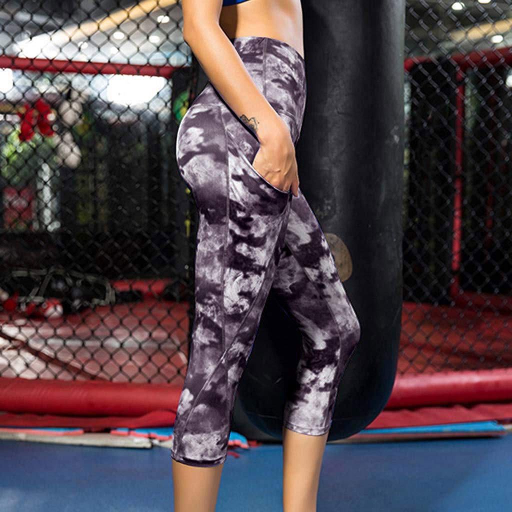 Amazon.com: YKARITIANNA LadiesPrinted High Waist Trousers and Fitness Yoga Pants with Sloping Pockets: Arts, Crafts & Sewing
