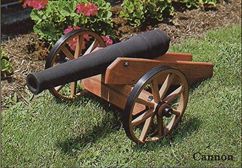 Economy Wooden Cannon for Lawn/Garden Amish Made in USA