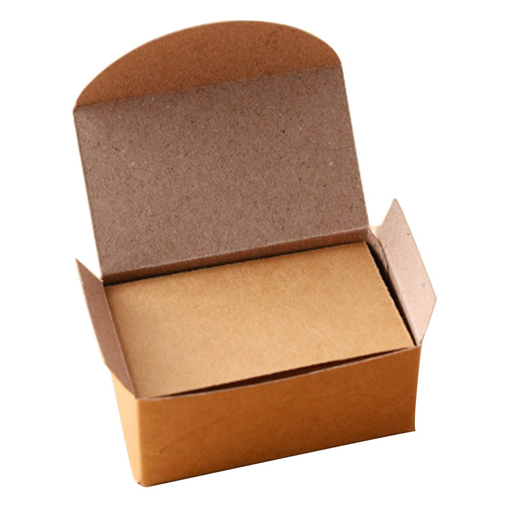 100pcs Double-sided Blank Kraft Paper Business Cards Word Card Message Card DIY Gift Card (brown) Amyove